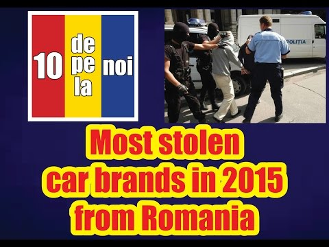 Most stolen car brands in 2015 from Romania