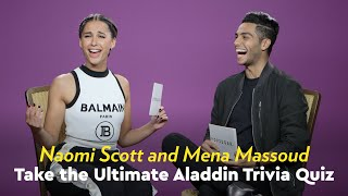 Gambar cover Naomi Scott and Mena Massoud Take the Ultimate Aladdin Trivia Quiz