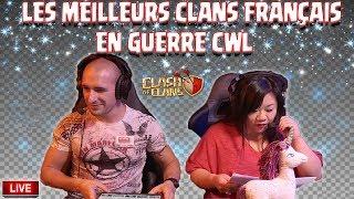 🔴 Les plus GROS CLANS FR en GUERRE CWL   Suzy et John   Clash of clans