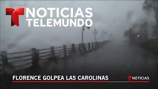 Imágenes desde Carolina del Norte donde tocará tierra el ojo del huracán Florence | Noticiero