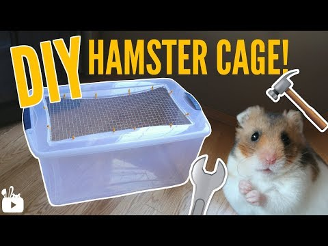 HOW TO MAKE A BIN CAGE   DIY Hamster cage!