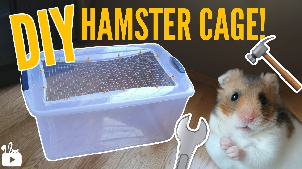 How To Make A Bin Cage Diy Hamster Cage Youtube