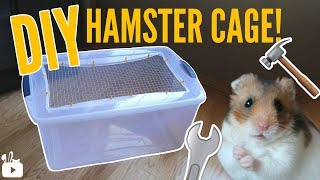 HOW TO MAKE A BIN CAGE | DIY Hamster cage!