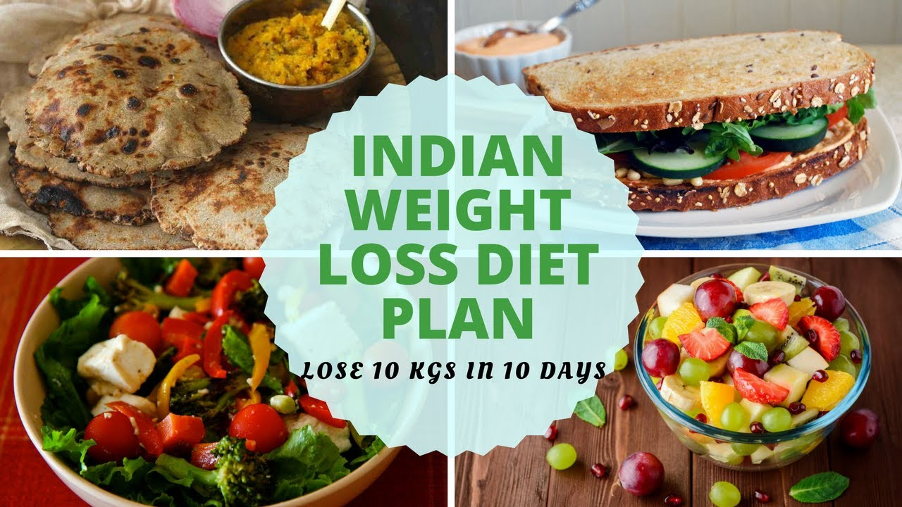 How To Lose Weight Fast 10Kg in 10 Days | Full Day Indian ...