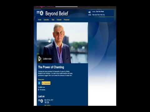 Power of Chanting - Buddhist Chanting Is Therapeutic & Open to All: BBC Radio 4