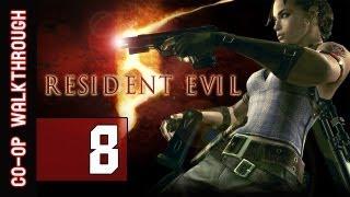 Resident Evil 5 Walkthrough: Part 8 Spider Boss - Gameplay & Commentary (Co-op)