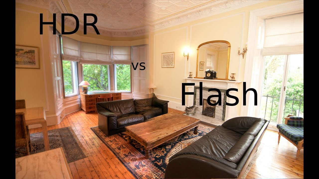Hdr Vs Flash Photography Property Photos Large Room