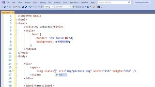 Tips for working with HTML in Visual Studio