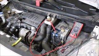 Citroen Berlingo 2009 | Как проверить генератор(Проверка системы зарядки Citroen Berlingo 2009., 2016-02-25T01:49:30.000Z)