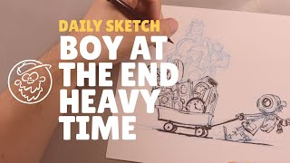 Sketching Boy At The End: Time