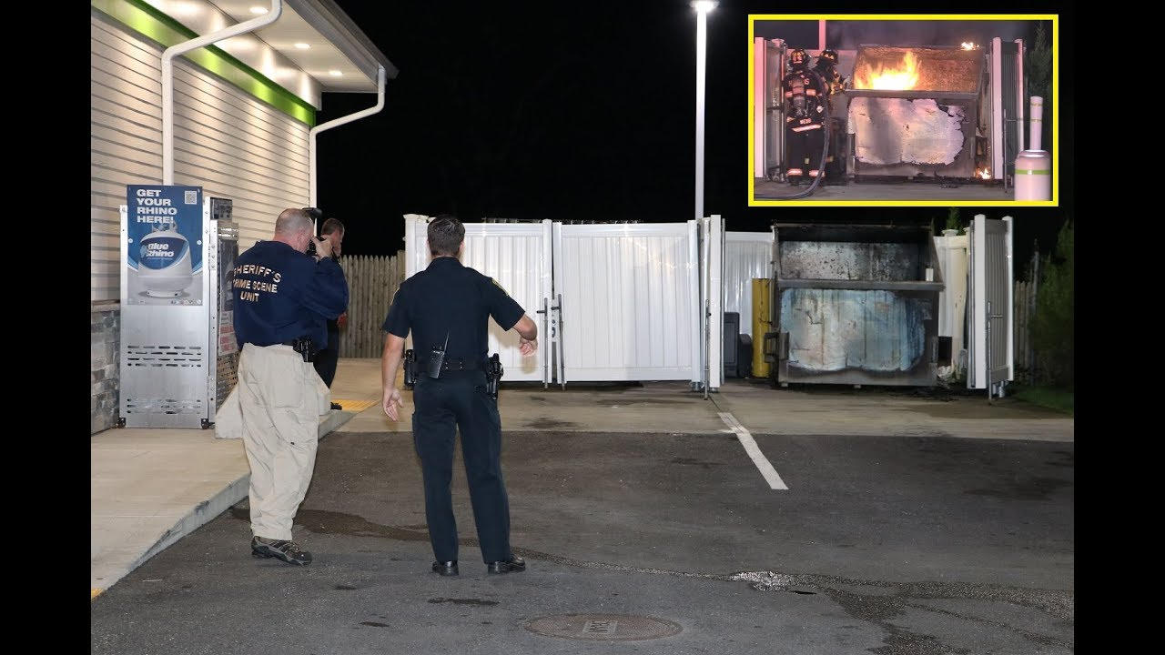 Hyannis firefighters quickly knock down suspicious early morning dumpster  fire
