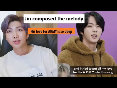 The behind story of making BTS Jin song \