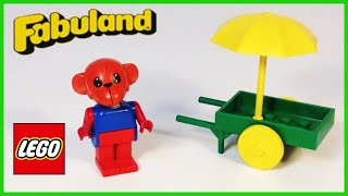 Lego Fabuland 3604 Marc Monkey And Wheelbarrow From 1980
