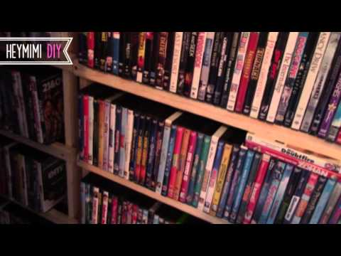 DIY DVD Shelves - Quick And Cheap DVD Storage Shelf