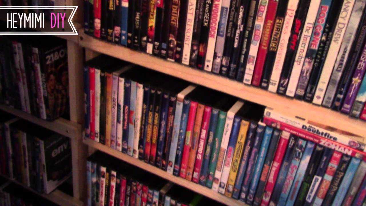 DIY DVD Shelves - Quick and Cheap DVD Storage Shelf - YouTube