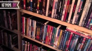 DIY DVD Shelves - Quick and Cheap DVD Storage Shelf