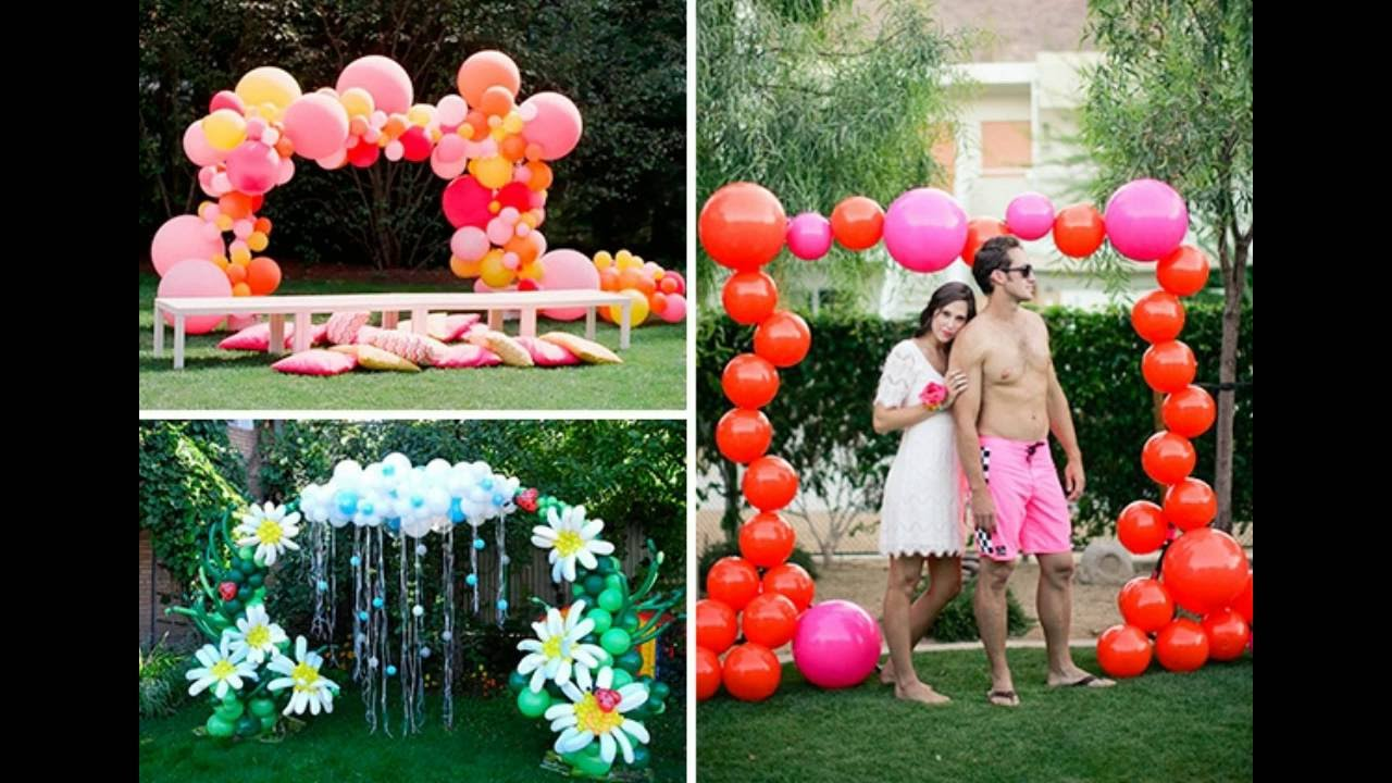 Decoracion facil con globos 40 ideas fantasticas para tus for Decoracion simple con globos