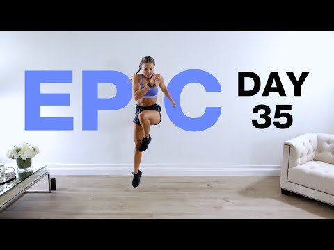 Day 35 of EPIC | Tabata Style HIIT Workout [NO EQUIPMENT]