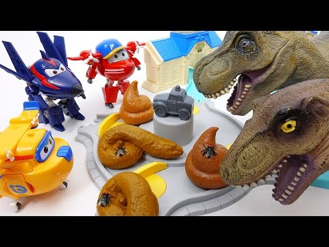 Thumbnail: Dinosaur Poops Everywhere~! Go Go Super Wings Clean Up The Town