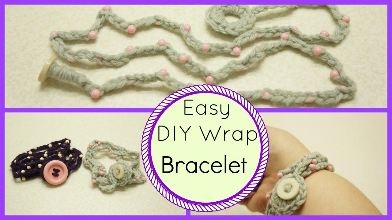Crochet Wrap Bracelet Tutorial Easy Peasy Youtube