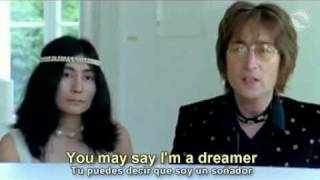 Repeat youtube video John Lennon    Imagine  subtitulada al espaol y al ingles