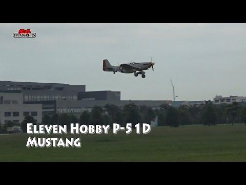 "Eleven Hobby P-51D P51D Mustang Old Crow 1100mm 43"" Wingspan PNP RC Warbird Arobatic Flight"