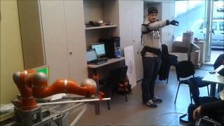 Human motion mapping to a robot arm with redundancy resolution