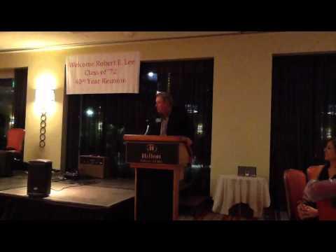 Vikings QB Tommy Kramer guest speaker Robert E. Lee High School Class of 1972 40th Reunion