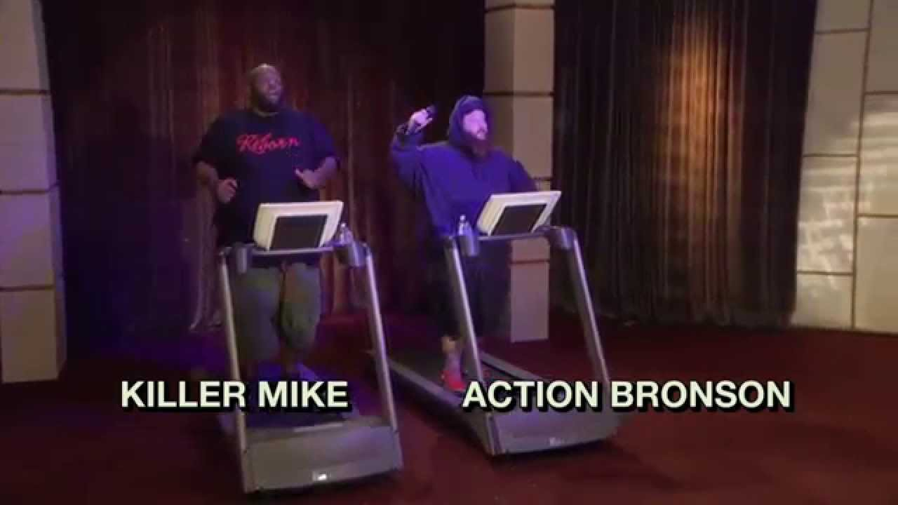Treadmill Rap Battle Action Bronson Killer Mike | The Eric Andre Show | Adult Swim