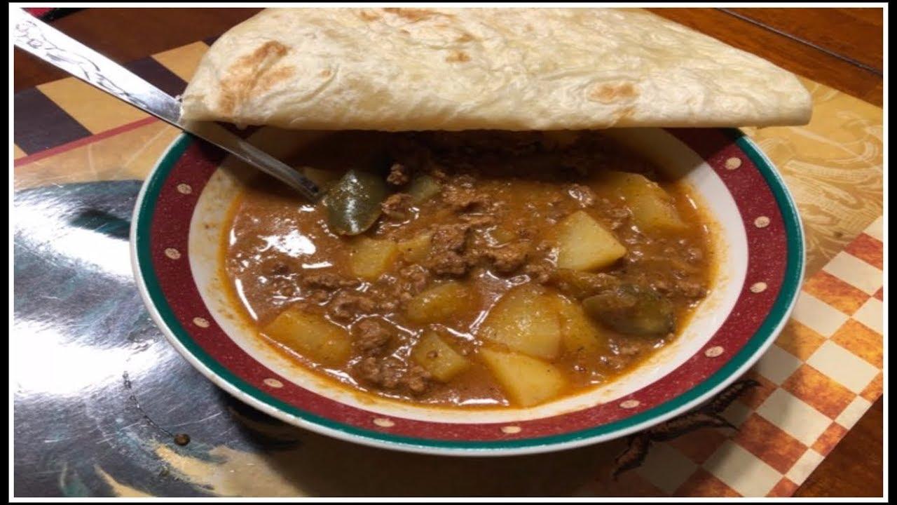 Picadillocarne Picada Con Papas Meat And Potato Stew Youtube