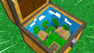I Built TINY VILLAGE Inside a CHEST In Minecraft!