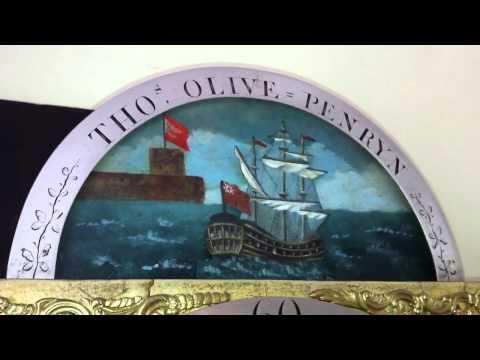 Antique Automata Longcase Clock with Rocking Ship