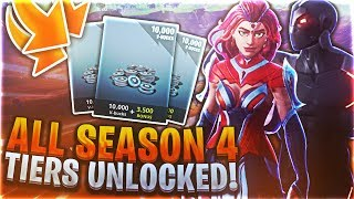 *NEW FORTNITE SEASON 4* (DUSTY GOT HIT! NEW MAP, EMOTES AND SKINS)