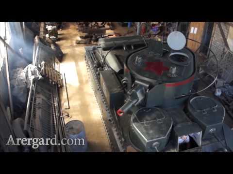 Бой советского танка Т 28 в оккупированном немцами Минске