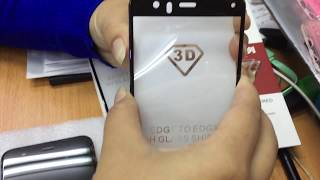 Xiaomi mi 6 install tempered glass 3d full edge curved original bye icase