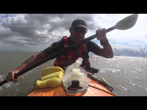 Paddling back from Penarth to Sully Island