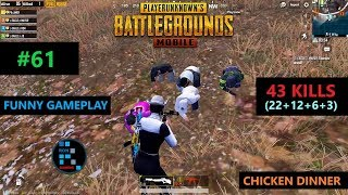 Download lagu PUBG MOBILE INSANE43 KILLSFUN GAMEPLAY CHICKEN DINNER MP3