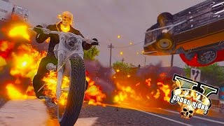 GTA 5 PC - Ghost Rider Invade Army Base ! Hell Raining Down ! (Ghost Rider Mod)