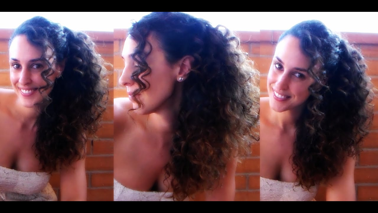 Preferenza ACCONCIATURA ELEGANTE per CAPELLI RICCI (e non) ❤ tutorial - YouTube NO73