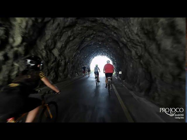 La ciclopedonale Vello-Toline in bicicletta.