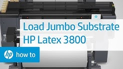 How To Load Jumbo Substrate Rolls in the HP Latex 3800 Jumbo Roll Solution | HP Latex | HP