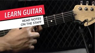Beginner Guitar Lessons: How to Read Notes on the Staff | Guitar | Lesson | Beginner
