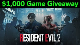 $1,000 Game Giveaway — 42% off Resident Evil 2 — Epic PC Game Deals