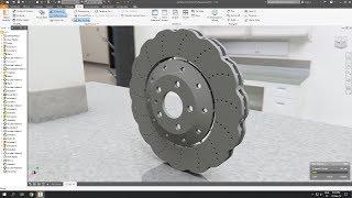 Autodesk Inventor - Audi RS7 wave brake