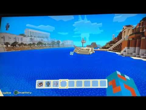 Minecraft PS4:Greek Mythology World: SELFIE WITH A GIANT!!!