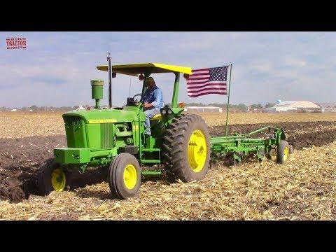 Tractors Plowing At The 2019 Half Century Of Progress Show