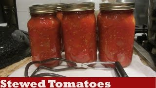 How To Can Preserve Stewed Tomatoes In Water Bath Canner