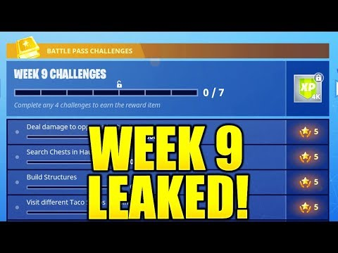 FORTNITE WEEK 9 CHALLENGES LEAKED! WEEK 9 ALL CHALLENGES EASY GUIDE SEASON 4 BATTLE PASS!