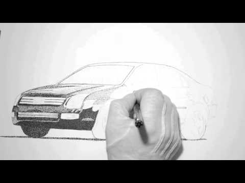 How To Draw A Ford Fusion 5