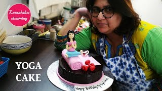 How to make Girl on Yoga mat cake design:birthday Cake Decorating